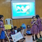 Kindergarten students of P. S. Senior talk about water conservation