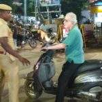 Mylapore traffic police regulate 'one way' traffic rule at mada streets