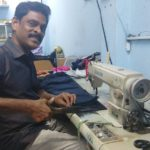 This tailor specializes in altering stitched clothes