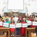 Children of St Thomas English Church community present Christmas play