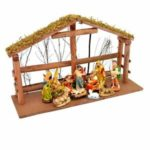 Crib sets, decorations for Christmas on sale at shop inside San Thome Cathedral