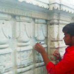 Maintenance work on at Jain temple in Mylapore