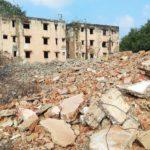 Old housing blocks at Velleswaran Thotam demolished: construction of new blocks to begin soon