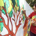 Luz Avenue community partners NGO to brighten local public walls
