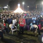 Hundreds gather at Marina roundabout to usher in new year