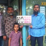 Some shopkeepers at Kutchery Road put up posters against CAA, NPR