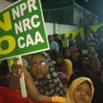 Muslim community holds anti CAA protest at Kutchery Road, Mylapore