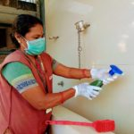 COVID-19 : Corporation's Health department disinfects local temples, bus stops and ATM kiosks