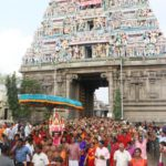 Hundreds of women take part in procession to Kolavizhi Amman Temple for abishekham