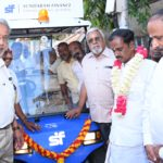 Electric golf carts to ferry people on mada streets to Sri Kapali Temple: donation by Sundaram Finance