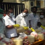 MLA joins Mylaporeans to distribute dry foodstuff