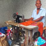 Tailor Ponnuswamy walks from Virugambakkam to CIT Colony daily: to run his streetside tailoring unit