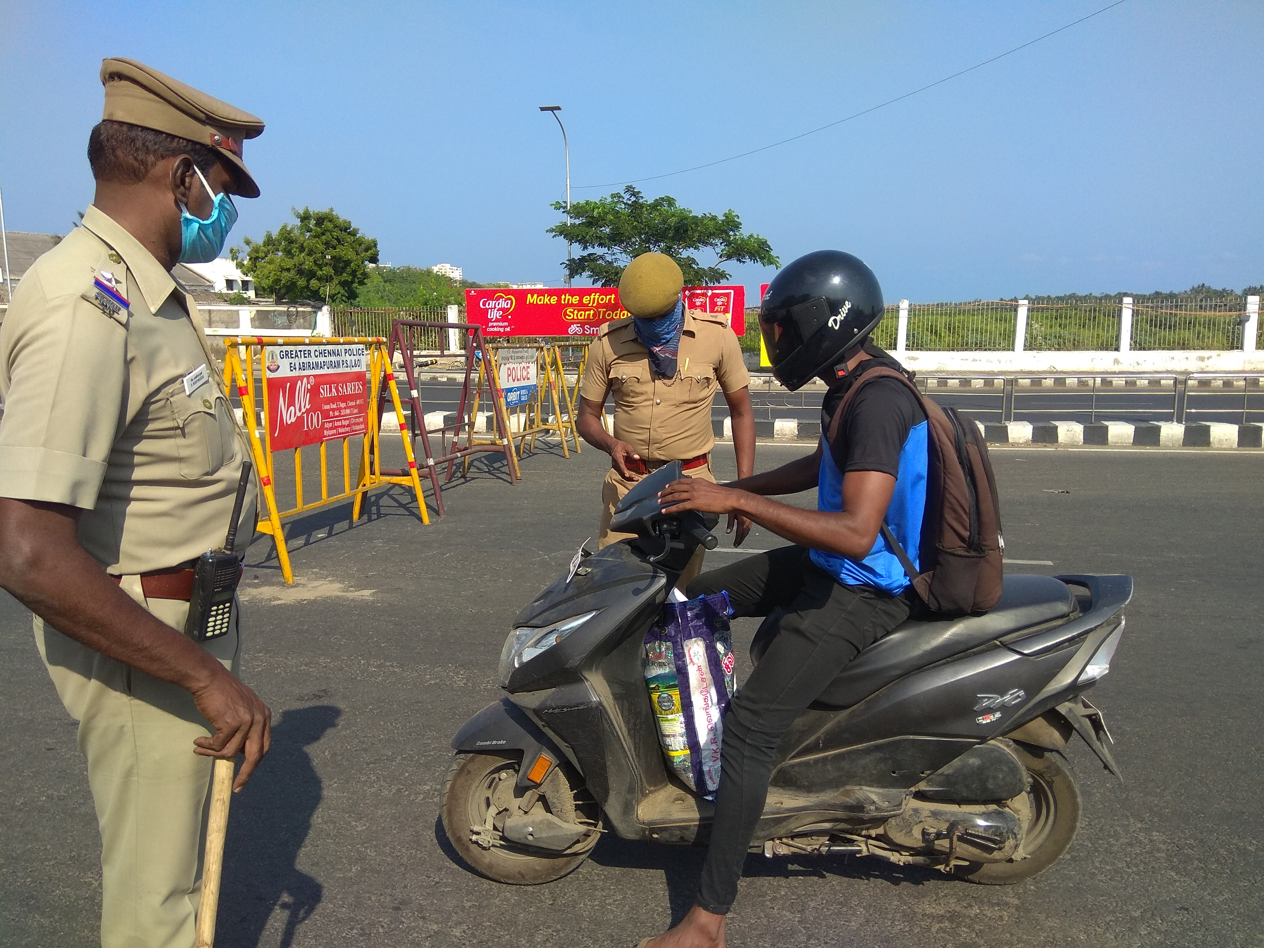 Traffic Police Pulling Car Over Stock Photo - Download