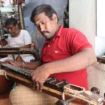 Fifth generation veena repair craftsman isn't down: uses WhatsApp to help clients make minor repairs of instruments