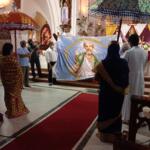 St Thomas feast; flag hoisting held inside Cathedral