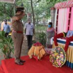 DG of Police pays respects to policeman at Pattinapakkam police station