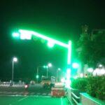 LED traffic pole installed at Kamarajar Salai, Marina to enhance traffic signal visibility