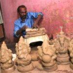 Potters of Mylapore skip making clay images of Vinayaka this season