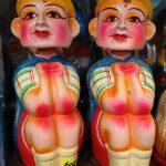Dolls for Navaratri golu festival available for sale at Sri Vijaya stores in Mylapore