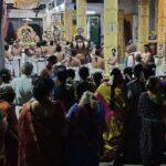 Vedantha Desikar birthday celebrated at Sri Srinivasa Perumal Temple. But no social distancing observed.