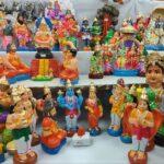 Khadi Vastralayam at R. K. Mutt Road now sells kolu dolls for Navaratri