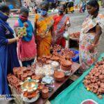 People start buying lamps for Karthigai Deepam