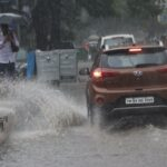 Rainwater stagnates in some areas, runs off in others