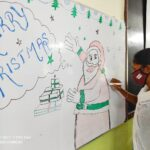 Students at St. Isabel Hospital's College of Nursing create Christmas buzz