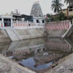 Newly-laid clay bed of temple tank shows results: rainwater holds