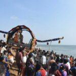 Masi Magam: Procession of Sri Kapaleeswarar and Karpagambal at Marina shore
