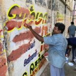 Elections 2021: wall writings, posters being cleaned up