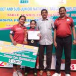 Hansini is table tennis national champion in cadets; Abiramapuram resident