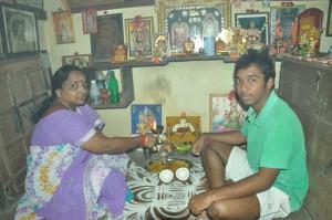 suriyakala & s.srivastavu (son) at t.s.v.koil st -ugadhi celebrates