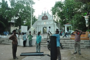 pizza part 2  tamil movie shooting at luz church  on 21-5-13