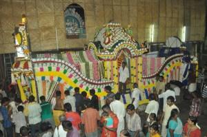 BIG POOPALAKKU TO LORD MURUGAN FOR KIRUTHIGAI -PROCESSION   AT KAPALI TEMPLE  ON 10-5-13