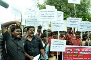 Saividyalaya mat school -protest  on 30-5-13