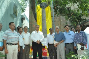 AIR (Chennai )-platinum jubilee memorial pillar at  AIR,campus) on-19-6-13