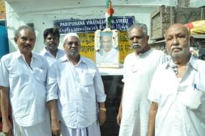 kamaraj  111th bday celebrates at mylai bazaar rd on 15-7-13