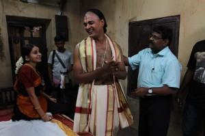 (Working Still)Director Gnana Rajasekaran with Bhama and Abhinay Vaddi