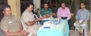 Raja Street police meet