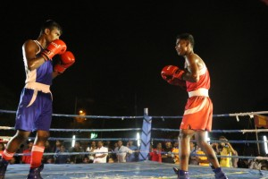 Boxing match, R. A. Puram