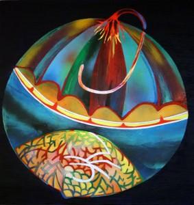 34.Vidhyasakar Upadhaya- 24 X 24- Acrylic on canvas