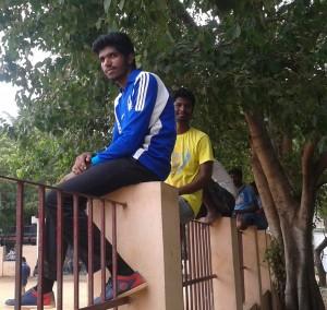 College boys at gurupuram park