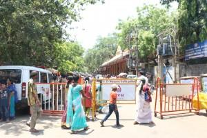 Road blocks near Sai Baba Temple