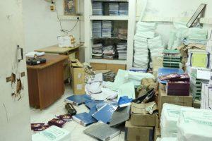 Veena E. Gayathri's office vandalized